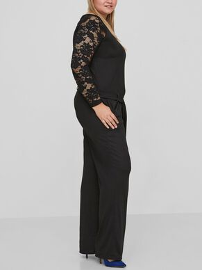LACE DETAILED JUMPSUIT