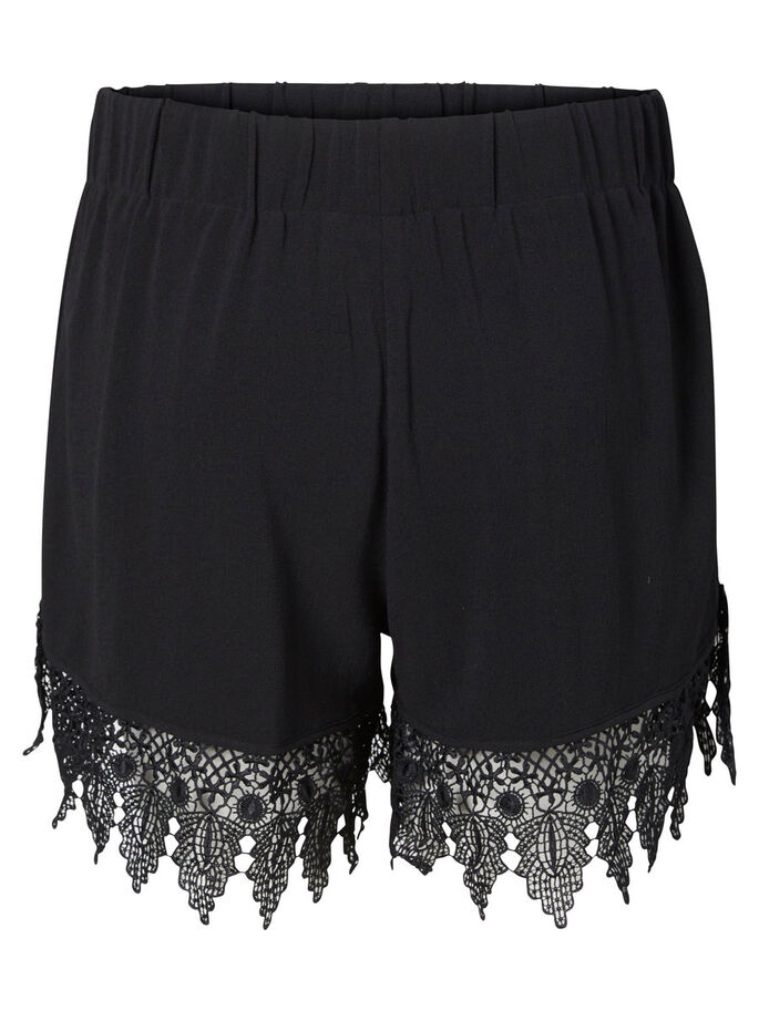 SPETSPRYDD SHORTS, Black, large