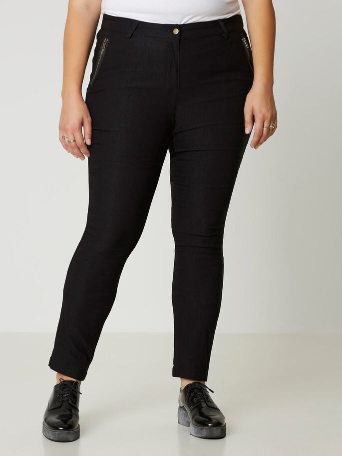 SLIM PANTALON, Black, large