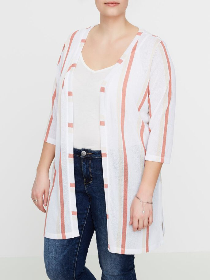 STRIPED CARDIGAN, Snow White, large