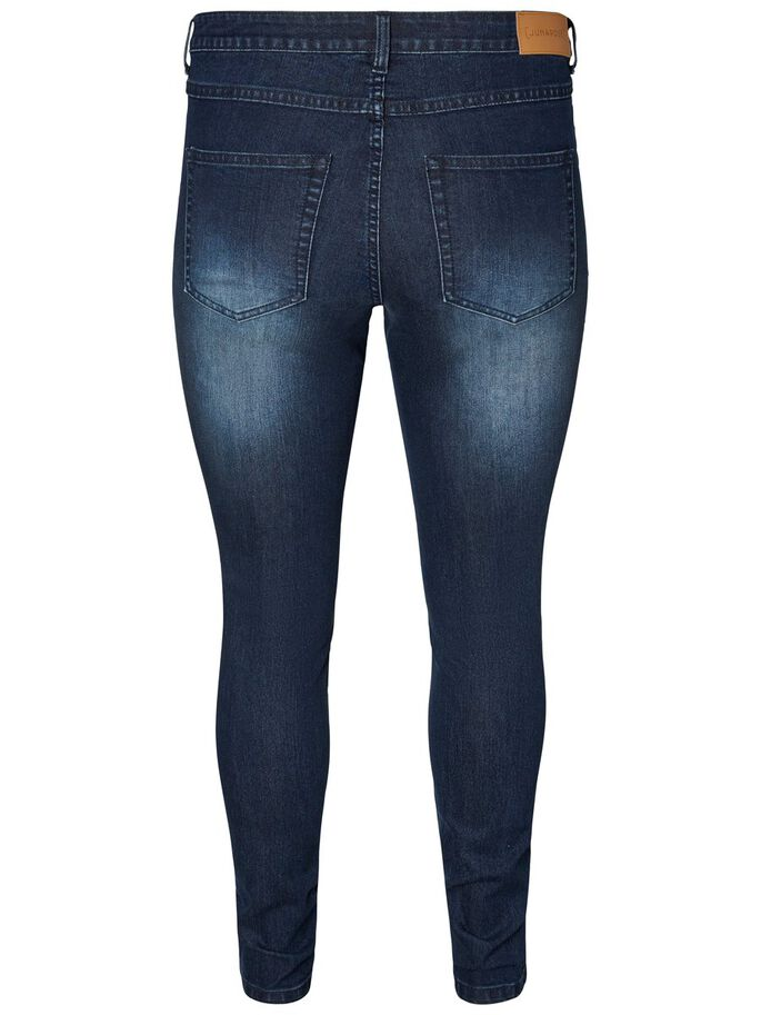 SLIM JEANS, Dark Blue Denim, large