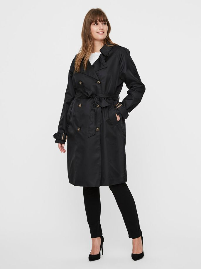 LONG TRENCH, Black, large