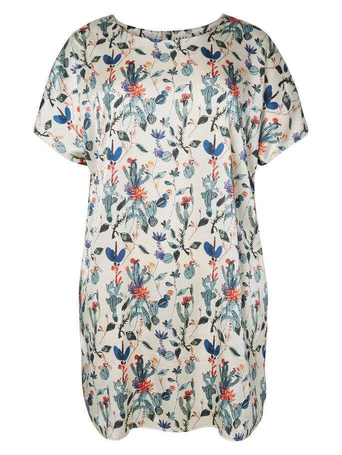 PRINTED DRESS, Bright White, large