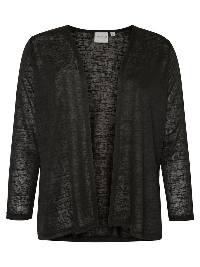 3/4 SLEEVED CARDIGAN, Black, large