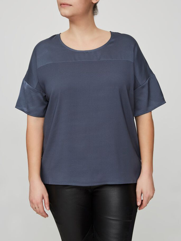 2/4 SLEEVED BLOUSE, Ombre Blue, large