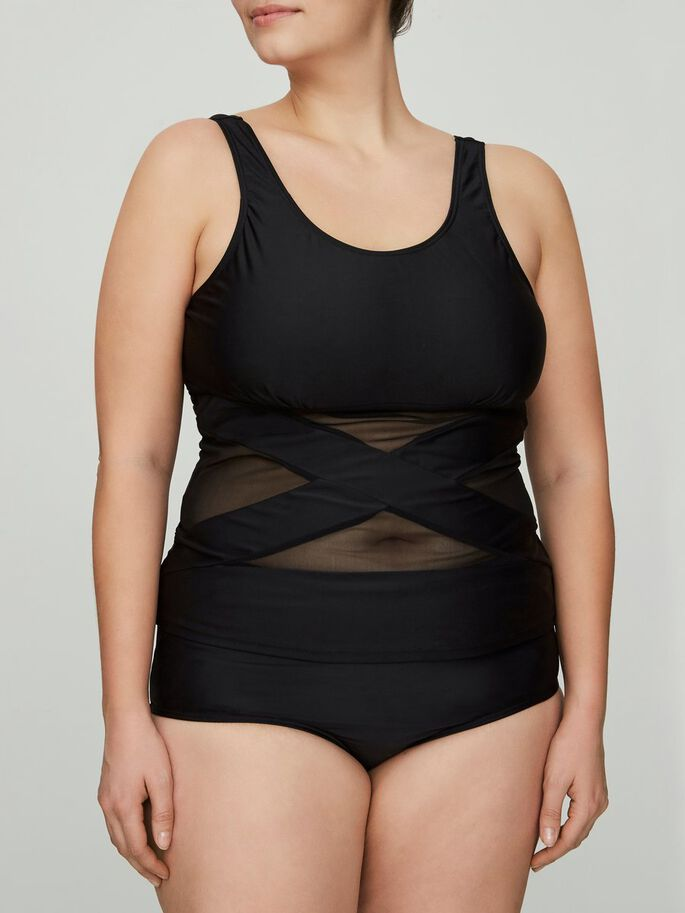 MESH TANKINI, Black, large