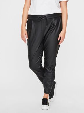 COATED LOOSE FIT TROUSERS