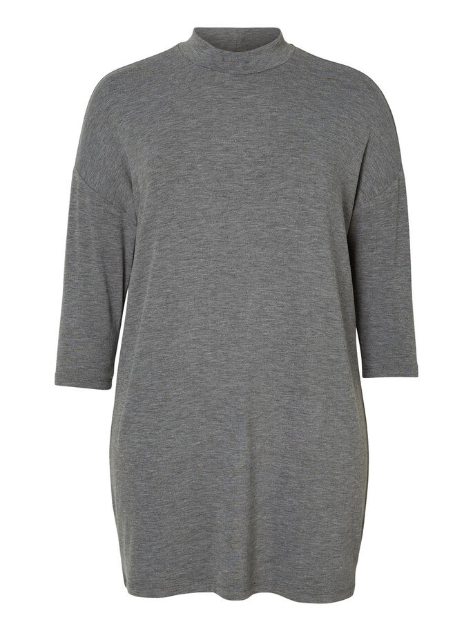 JERSEY TUNIC, Medium Grey Melange, large