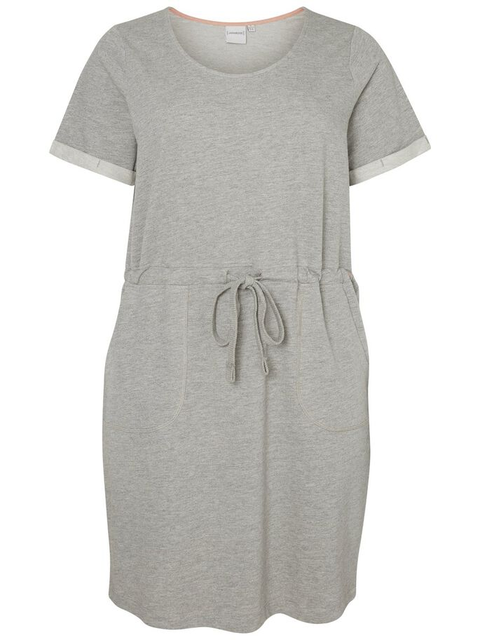 SWEAT DRESS, Light Grey Melange, large