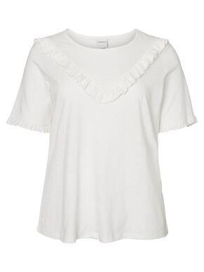 RUFFLE DETAILED 2/4 SLEEVED BLOUSE
