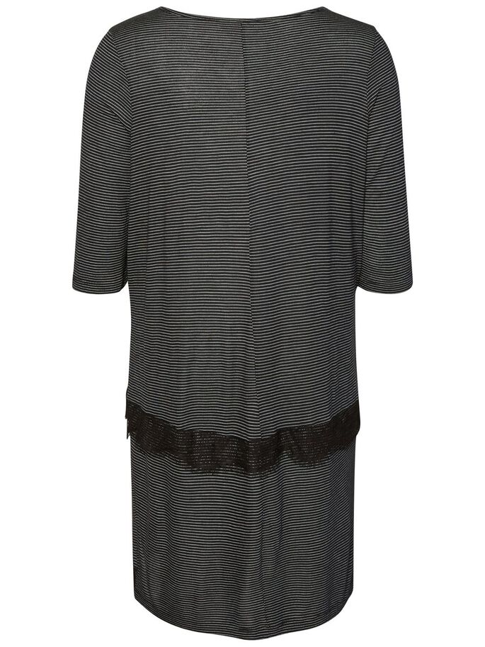 MANCHES 3/4 ROBE, Black, large