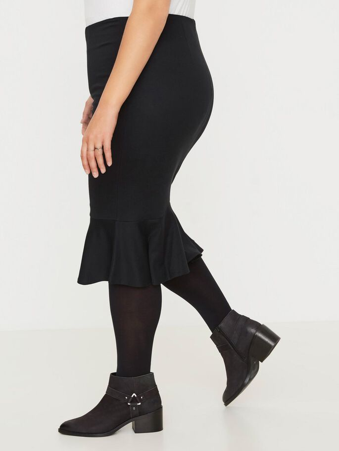 FITTED SKIRT, Black, large