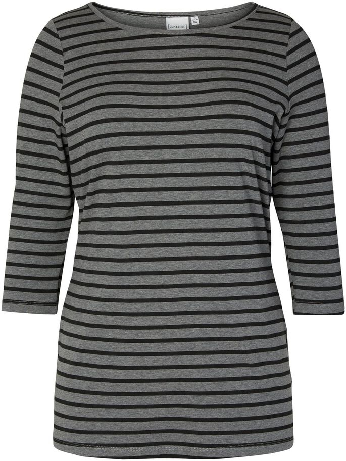 3/4-ÄRMELIGE BLUSE MIT 3/4 ÄRMELN, Medium Grey Melange, large