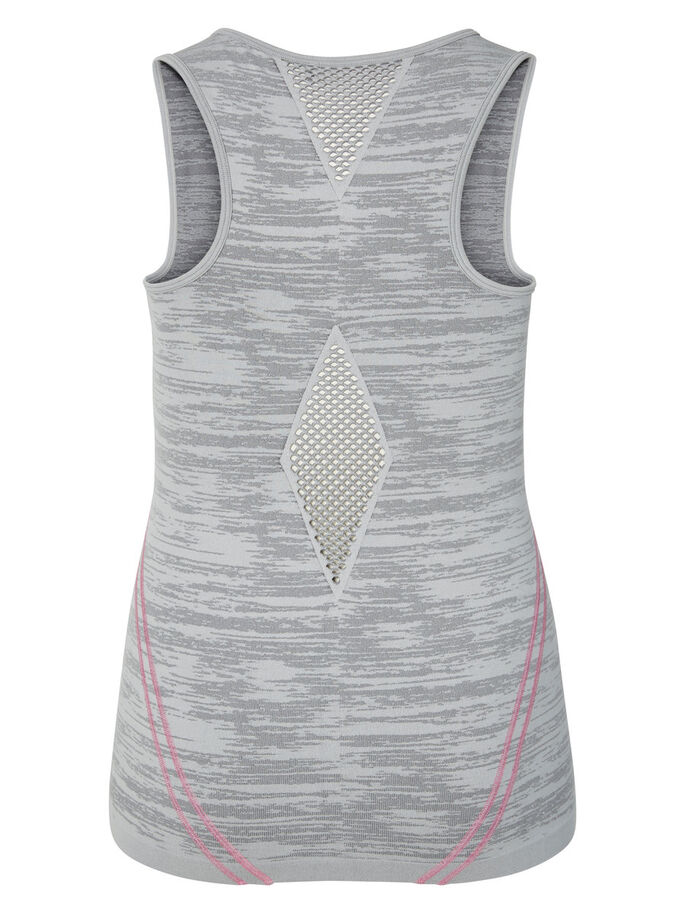 TRAINING SLEEVELESS TOP, Medium Grey Melange, large