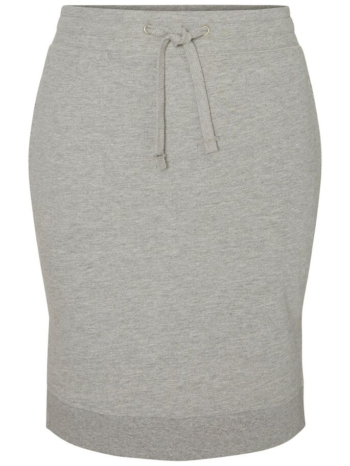 SWEATSYDD KJOL, Light Grey Melange, large