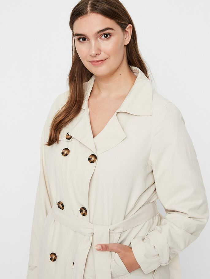 TRENCH COAT, Oatmeal, large