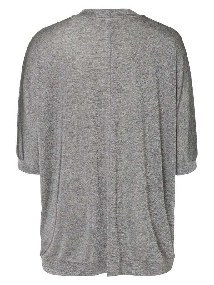 3/4 SLEEVED CARDIGAN, Medium Grey Melange, large