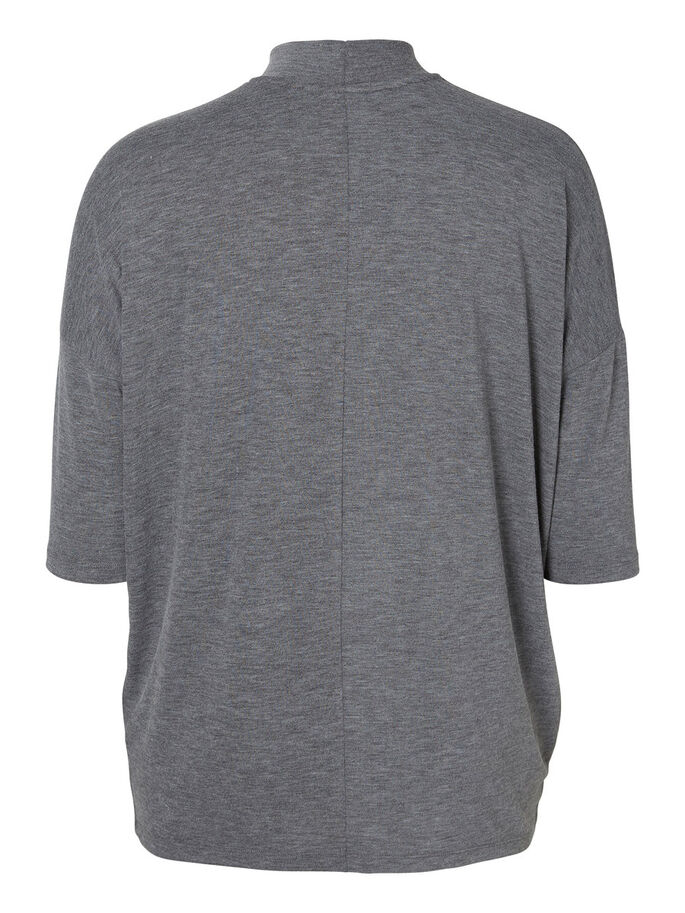 JERSEY T-SHIRT, Medium Grey Melange, large
