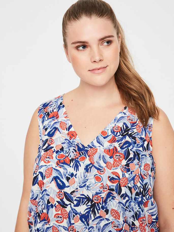 FLORAL PRINTED TOP, Snow White, large