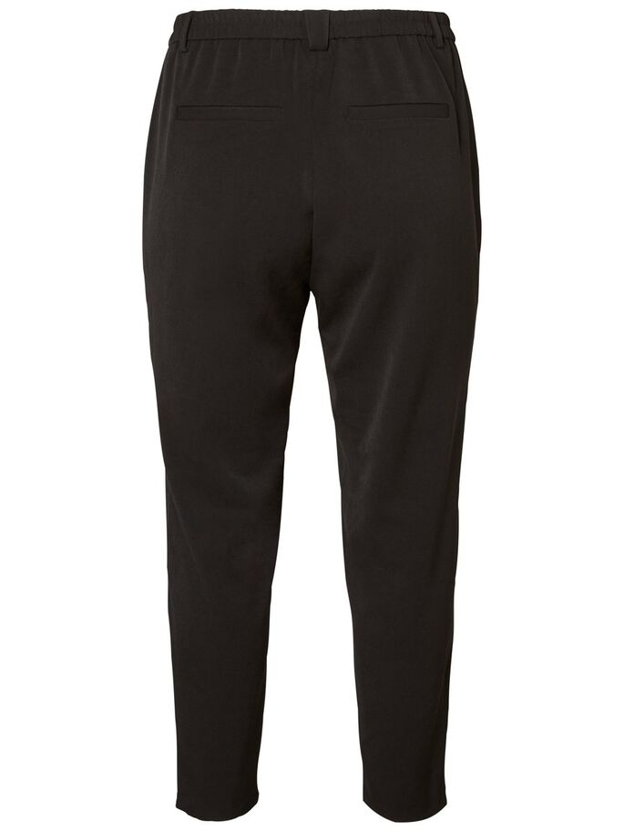 WOVEN ANKLE 7/8 PANTS, Black Beauty, large