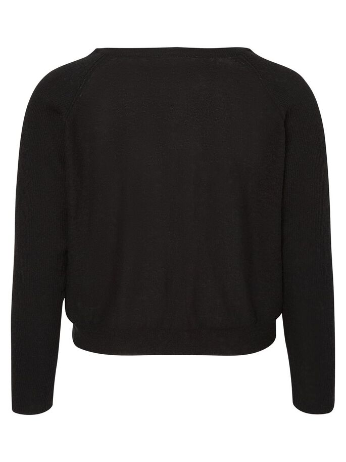 MANCHES LONGUES CARDIGAN, Black, large