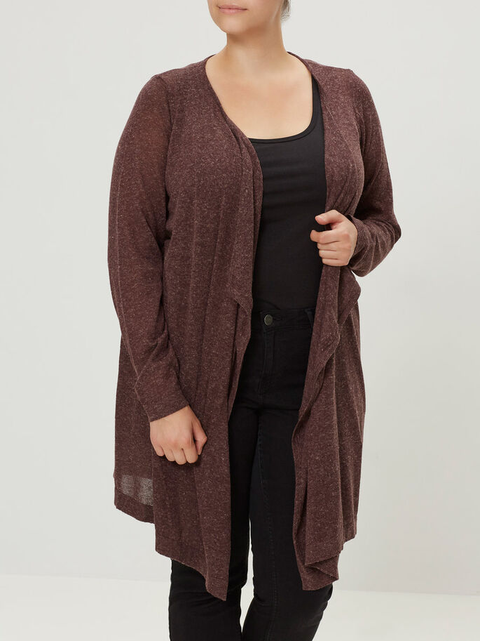 MAILLE CARDIGAN, Decadent Chocolate, large