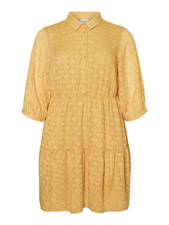 3/4 SLEEVED DRESS, Golden Apricot, large