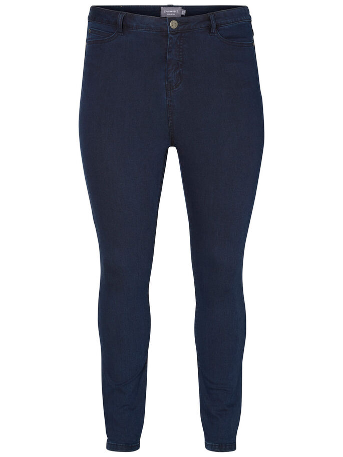 JRONE HØJTALJET JEANS, Dark Blue Denim, large