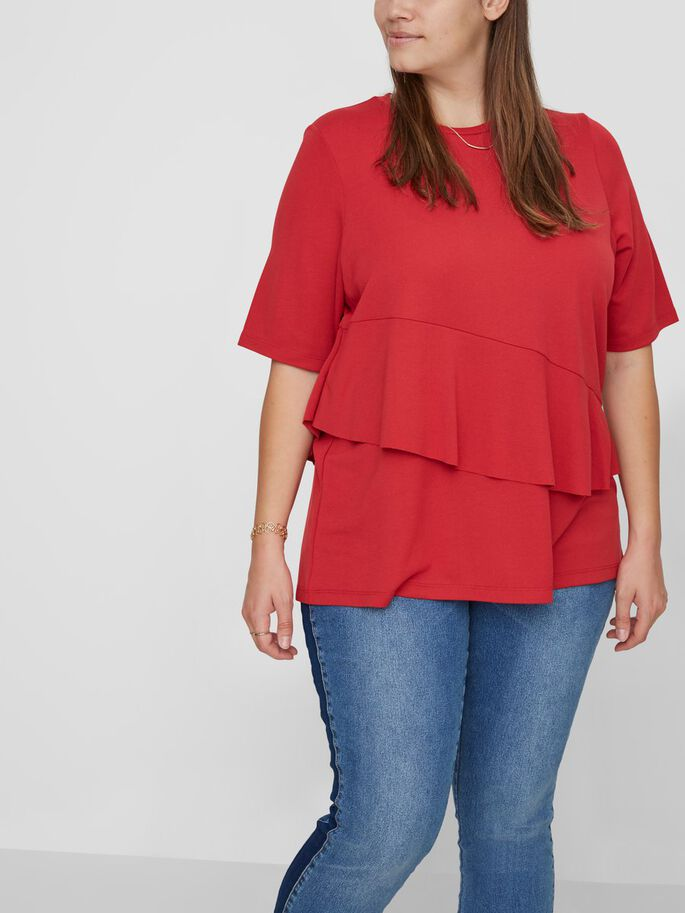 VOLANTS BLOUSE MANCHES 2/4, Scarlet Sage, large