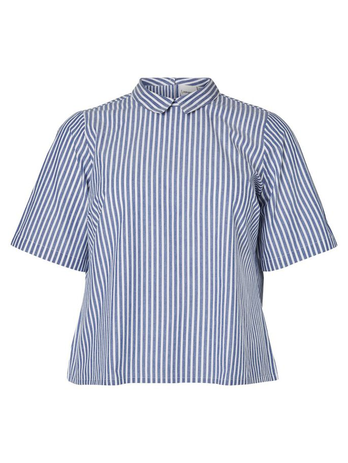 STRIPED SHIRT, Bijou Blue, large