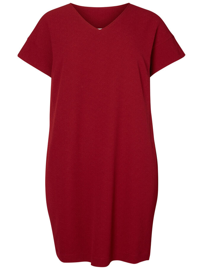 SHORT SLEEVED DRESS, Biking Red, large