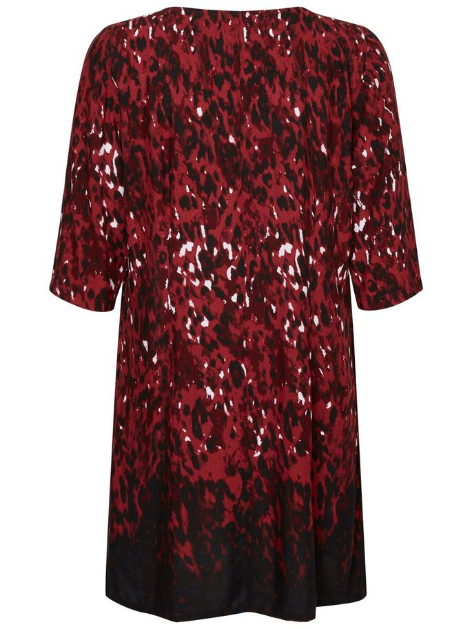MANCHES 3/4 ROBE, Maroon, large