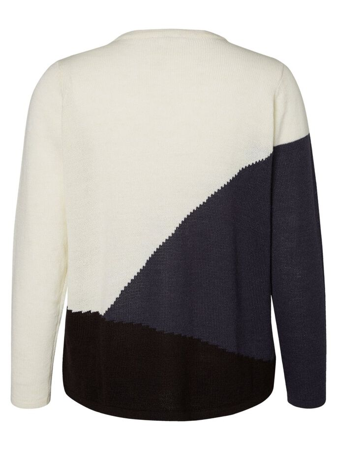 MAILLE COLOUR BLOCK PULLOVER, Snow White, large