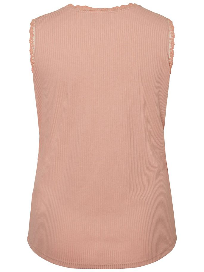 SLEEVELESS BLOUSE, Peach Beige, large