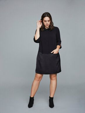 LONG SLEEVED SHIRT DRESS DRESS