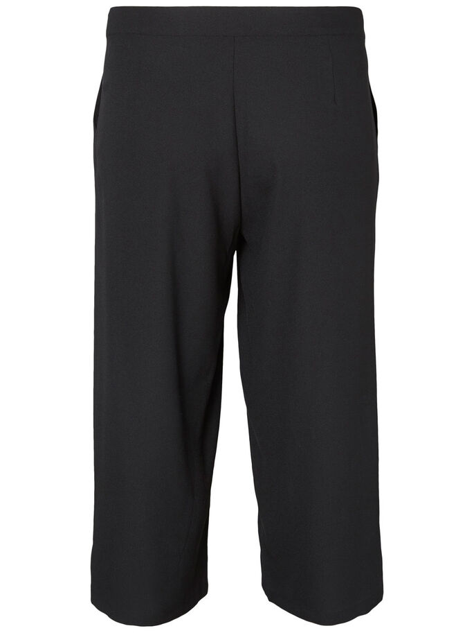 CROPED TROUSERS, Black, large