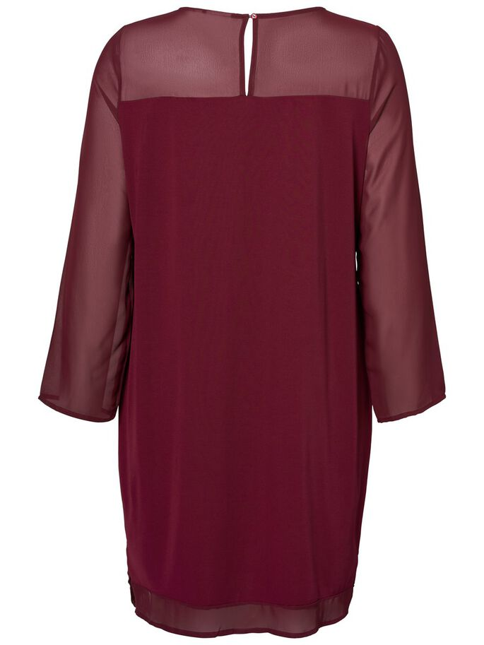 LONG SLEEVED DRESS, Zinfandel, large