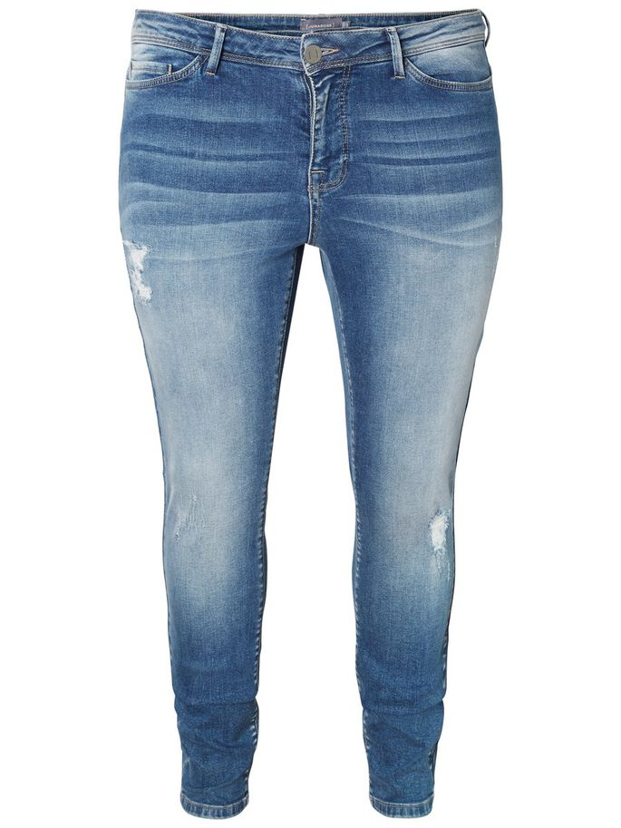 SLIM FIT JEAN, Dark Blue Denim, large
