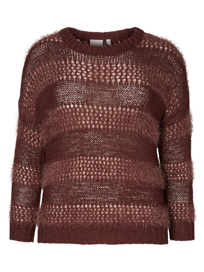 GESTRICKTER PULLOVER, Decadent Chocolate, large