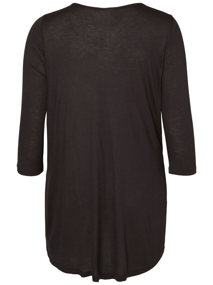 HIGH-LOW BLUSE, Black, large