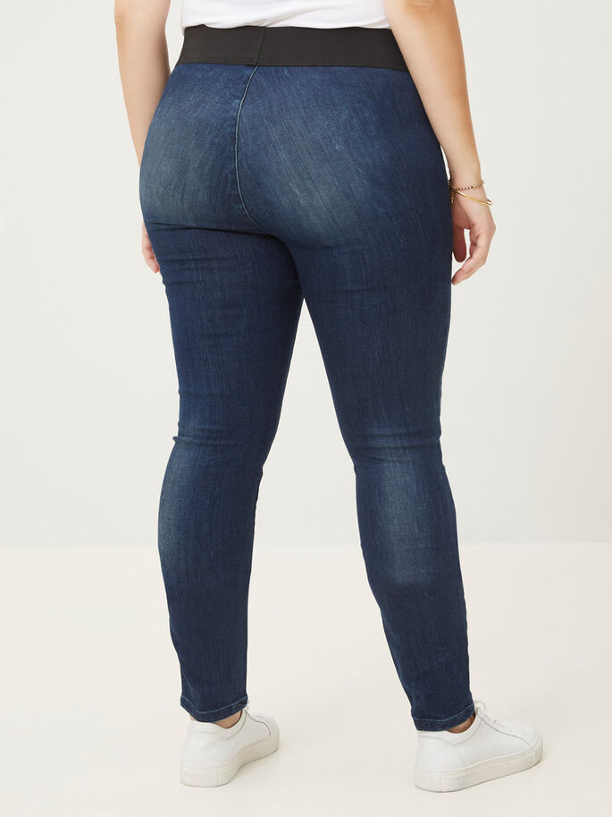 SKINNY JEANS, Dark Blue Denim, large