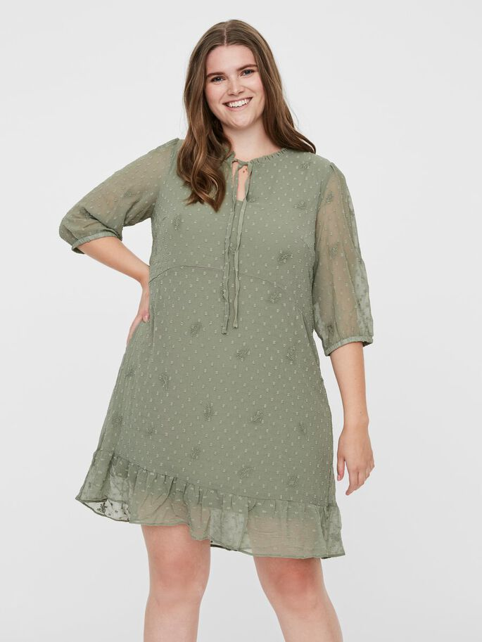 STRUCTURED MINI DRESS, Hedge Green, large