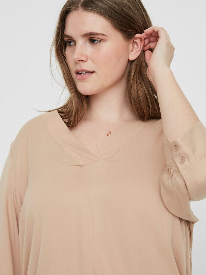3/4 SLEEVED BLOUSE, Cuban Sand, large
