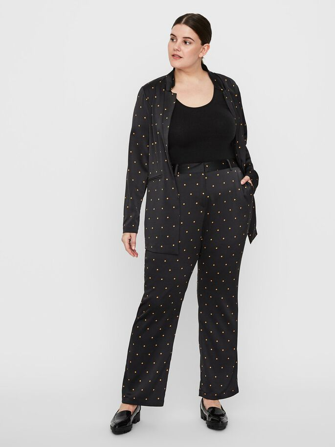 DOTTED BLAZER, Black, large