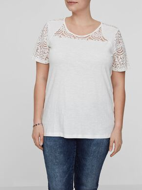 EMBROIDERY DETAILED SHORT SLEEVED BLOUSE