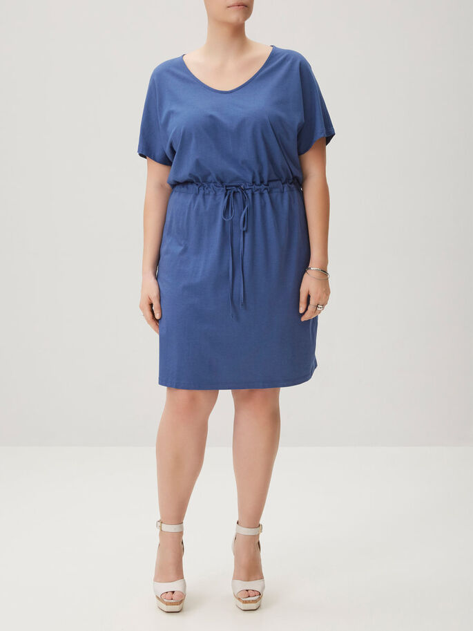 JERSEY- KLEID, True Navy, large