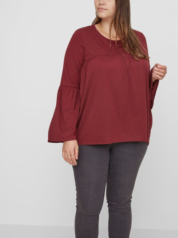 FEMININ LONG SLEEVED BLOUSE, Zinfandel, large