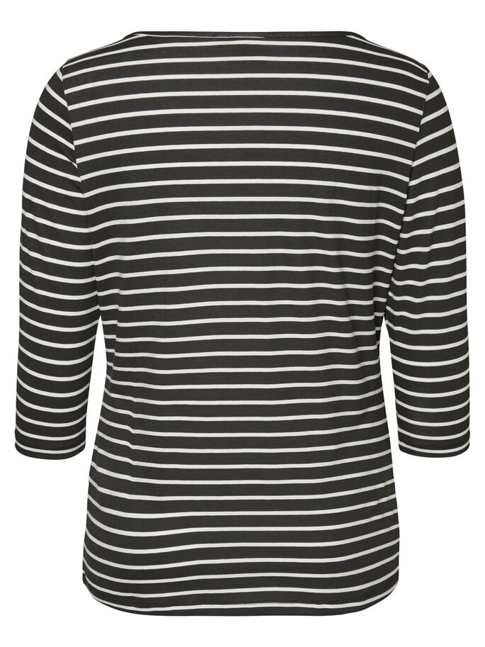 3/4-ÄRMAD BLUS, Black, large