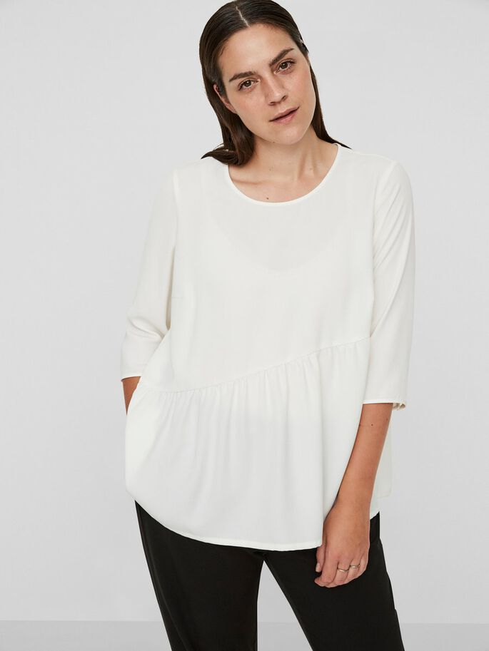 3/4 SLEEVED BLOUSE, Snow White, large