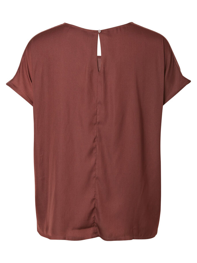 SHORT SLEEVED BLOUSE, Decadent Chocolate, large